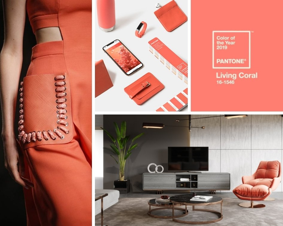 PANTONE Living Coral 2019 - color of the year - Laskasas